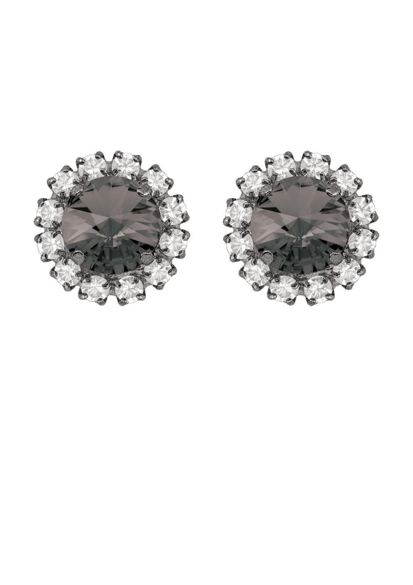 Black Diamond Rivoli Mini Studs with Strass