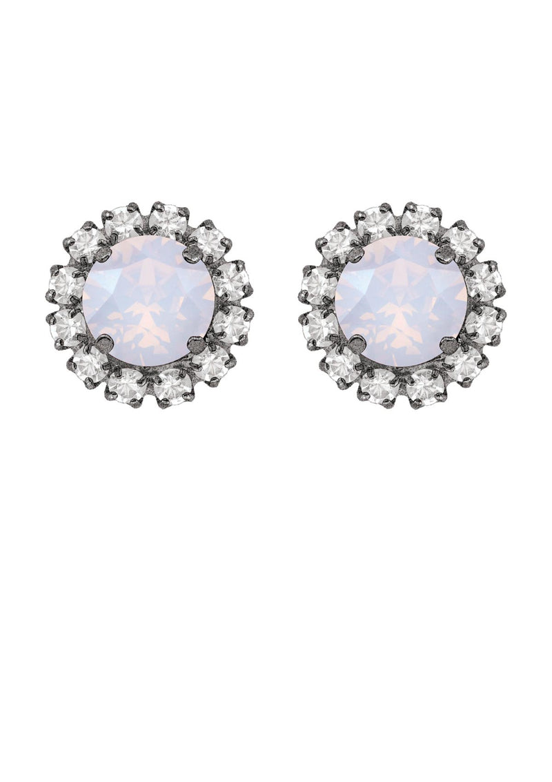 Opal Rivoli Mini Studs with Strass
