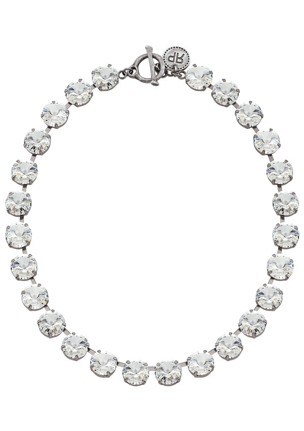 Crystal Rivoli Necklace in antique silver swarovski crystals rebekah price jewelry