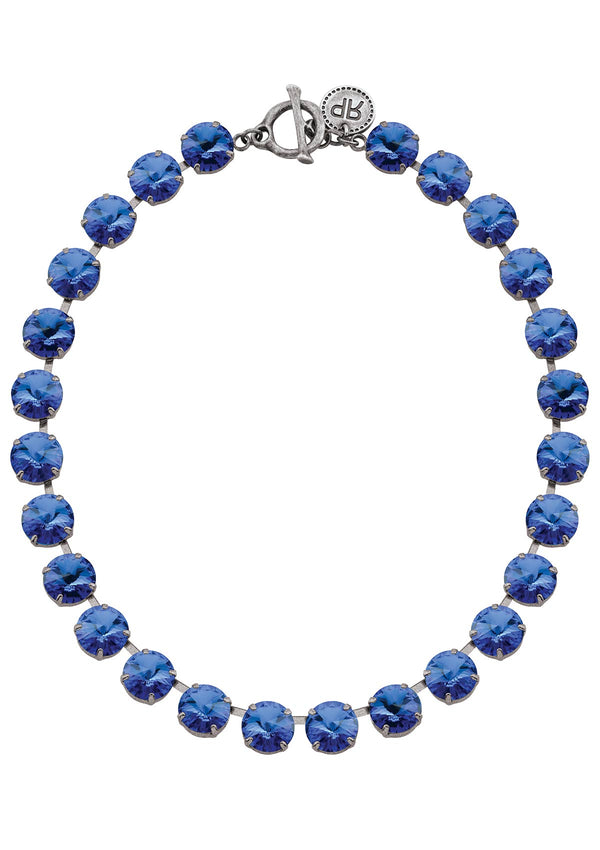 Sapphire Rivoli Crystal Necklace Blue Rebekah Price Jewelry