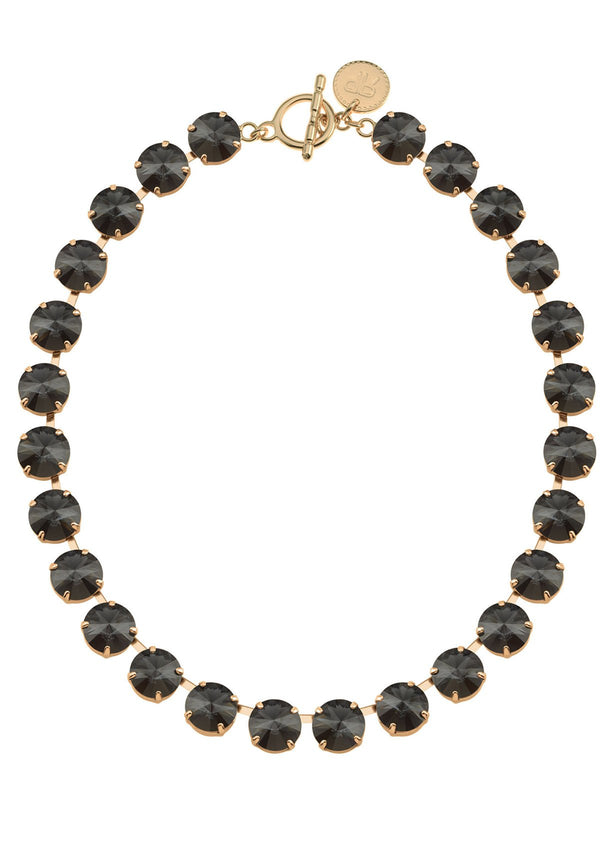 Graphite Rivoli Necklace