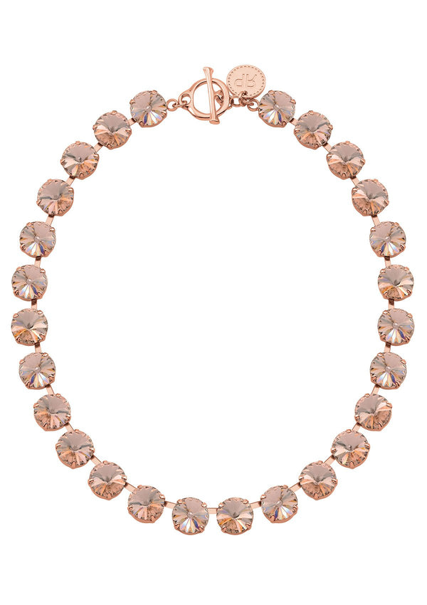Vintage Rose Rivoli Necklace