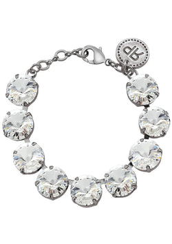 3831355b8 Crystal Rivoli Bracelet Antique Silver Swarovski Crystals Rebekah Price  Designs Fine Jewelry