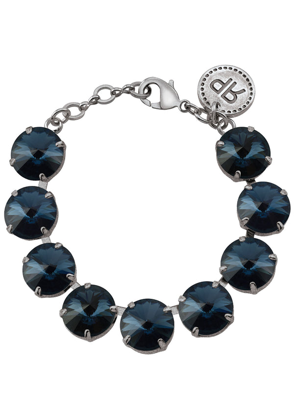 Montana Rivoli Bracelet Antique Silver Swarovski Crystal Rebekah Price Designs Fine Jewelry