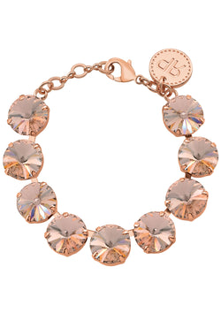 Vintage Rose Gold Rivoli Crystal Bracelet Rebekah Price Jewelry