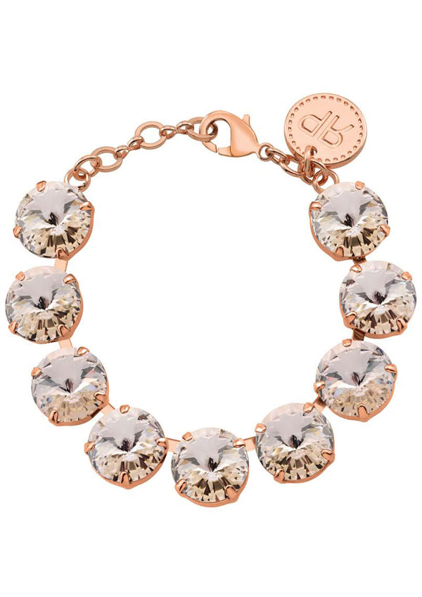 Silk Rivoli Bracelet Rose Gold Swarovski Crystals Rebekah Price Designs Jewelry
