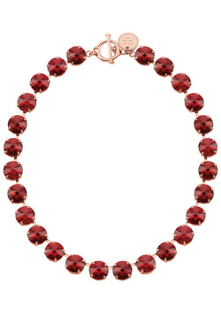Siam Rivoli Necklace Red Swarovski Crystal Rebekah Price Jewelry