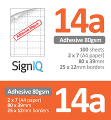 14up Perforated Adhesive Labels