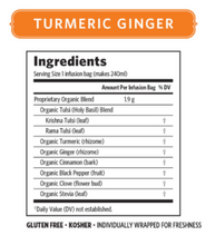 ORGANIC INDIA Tulsi Turmeric Ginger Tea Bags (contains 18)