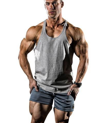 N1 Classic T-Back Gym Singlet in Grey Marle