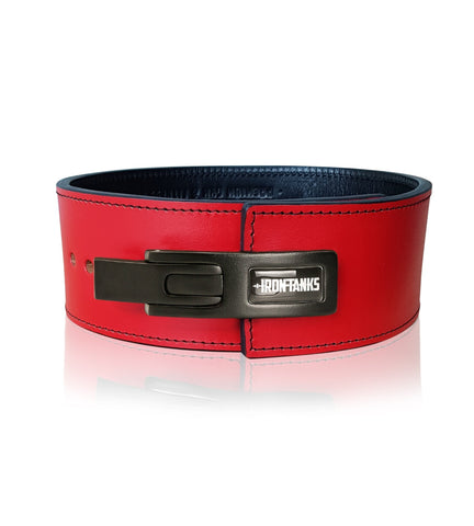 Red 10mm 13mm Powerlifting Bodybuilding Gym Belt - Iron Tanks