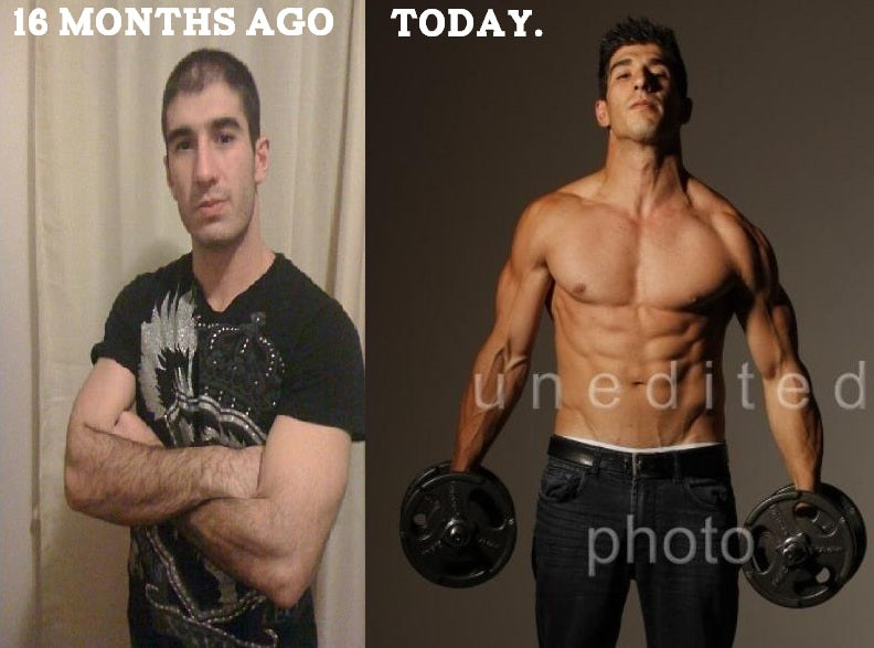 "Before and After Photo Luke ""Alfy"" Rizuto"