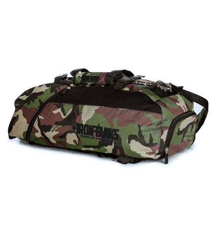 Iron Tanks Gym Bag Military Gym Bag - Woodland Camo
