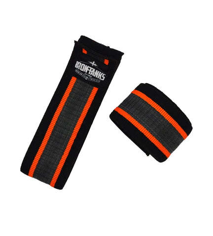 Iron Tanks Knee Wraps Ironclad Knee Wraps with GripTech - Classic Black