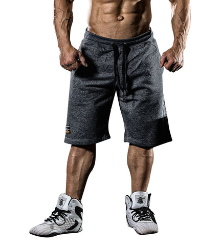 Iron Tanks Mens Shorts BFG Cotton Gym Shorts - Grey