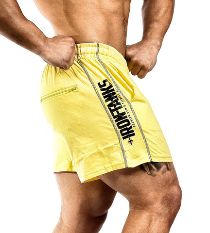 Iron Tanks Mens Shorts N1 Classic Gym Shorts - Arnold Yellow