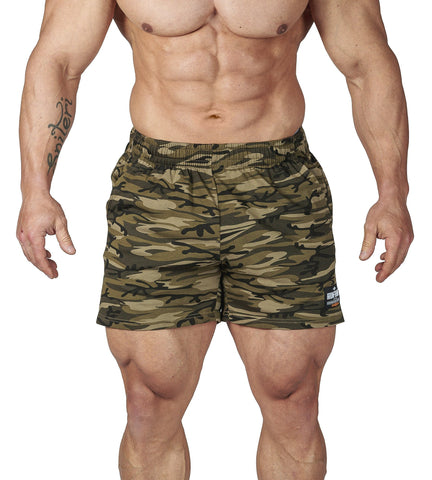 Iron Tanks Mens Shorts N1 Classic Gym Shorts - Desert Camo