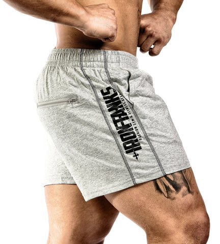 Iron Tanks Mens Shorts N1 Classic Gym Shorts - Grey Marle