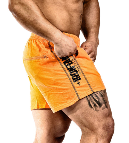 Iron Tanks Mens Shorts N1 Classic Gym Shorts - Prison Orange