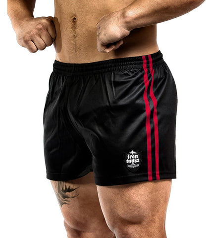 Iron Tanks Mens Shorts Vanity V2 Gym Shorts - Red