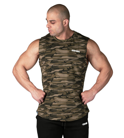 Iron Tanks Mens Tanks Alpha Muscle Tank - Desert Camo