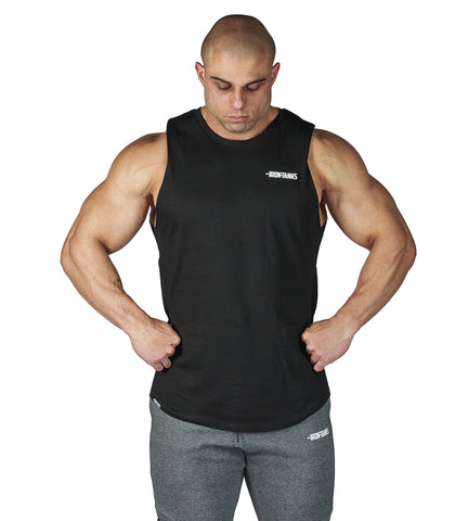 Iron Tanks Mens Tanks Alpha Muscle Tank - Mythos Black