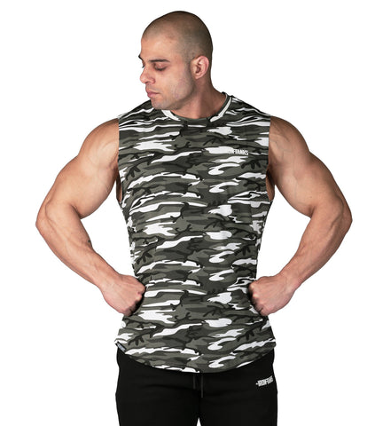 Iron Tanks Mens Tanks Alpha Muscle Tank - Urban Camo