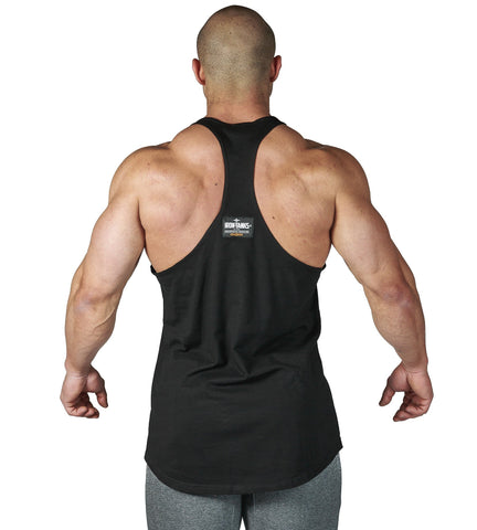 d5a803b7 Iron Tanks Mens Alpha Bodybuilding T-Back - Mythos Black. Images. 1; / 2; /  ...