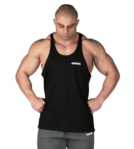 Iron Tanks Mens Tanks Alpha T-Back Singlet II - Jaguar Black