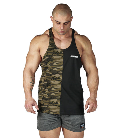 Iron Tanks Mens Tanks Alpha T-Back - Split Desert Camo