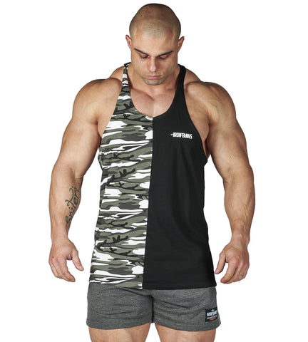 Iron Tanks Mens Tanks Alpha T-Back - Split Urban Camo