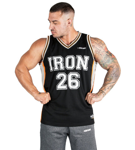 Iron Tanks Mens Tanks Iron Mesh Jersey - Black