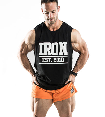 Iron Tanks Mens Tanks Iron Muscle Tank - Black