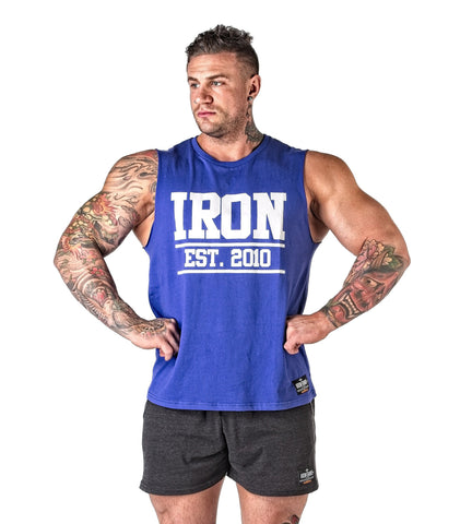 Iron Tanks Mens Tanks Iron Muscle Tank - Royal Blue