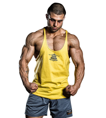 d00e81e29b1ef Iron Tanks Mens Tanks Marauder Stringer Singlet - Arnold Yellow