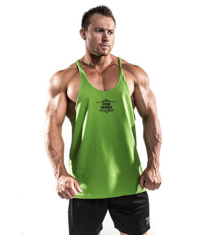 Iron Tanks Mens Tanks Marauder Stringer Singlet - Hulk Green