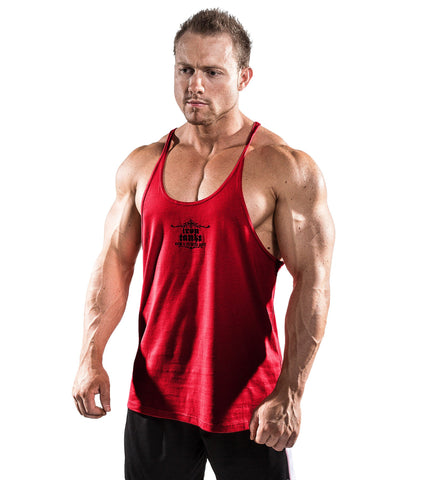 8cfed2406aea5 Iron Tanks Mens Tanks Marauder Stringer Singlet - Venom Red