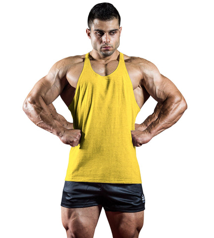 Iron Tanks Mens Tanks N1 Classic T-Back V1 - Arnold Yellow