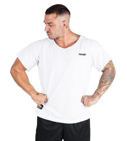 Iron Tanks Mens Tees & Shirts BFG Heavy Rag Top - White
