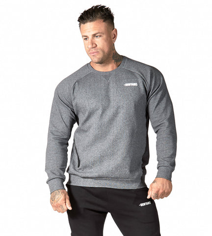 Iron Tanks Mens Tees & Shirts Fusion Crewneck - Carbon Grey
