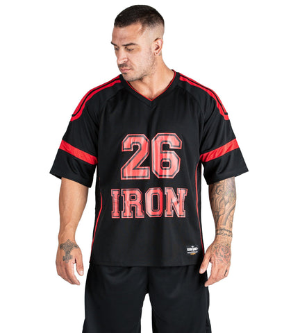 Iron Tanks Heavy Hauler Bodybuilding Powerlifting Jersey II - Red