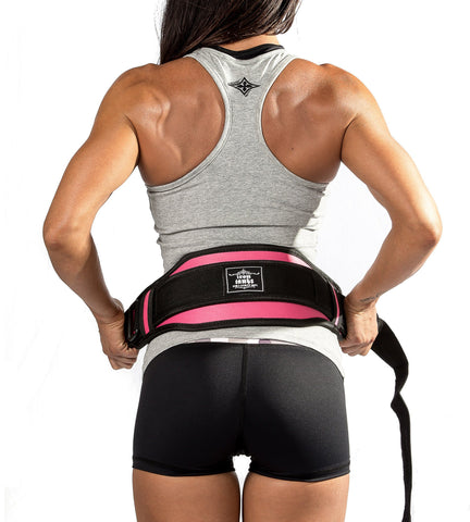 "Iron Tanks Neoprene Belt Neoprene 6"" Weightlifting Belt - Pink"