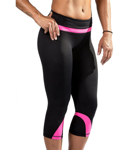 Iron Tanks Womens Capri Climaxx Compression Tights - Pink