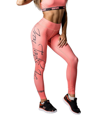 Iron Tanks Womens Capri Climaxx Leggings - Coral