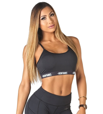 Iron Tanks Womens Crop Top Stealth Climaxx Sports Bra