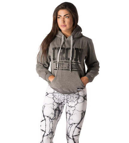 Womens Iron Pullover Hoodie V2 - Storm Grey