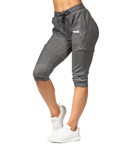 Iron Tanks Womens Pants Womens Fusion 3/4 Gym Pants - Carbon Grey
