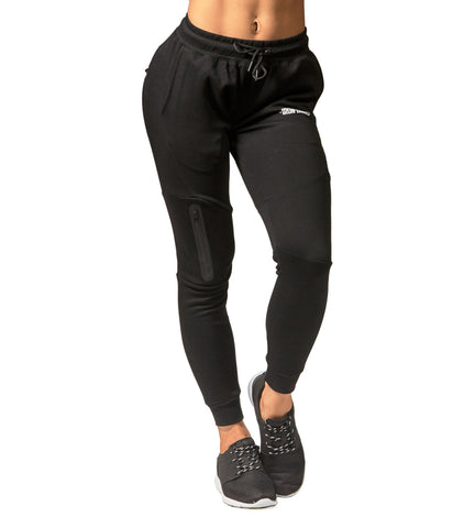 Iron Tanks Womens Pants Womens Fusion Gym Pants - Flux Black