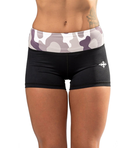 Iron Tanks Womens Shorts Climaxx Compression Shorts - Camo