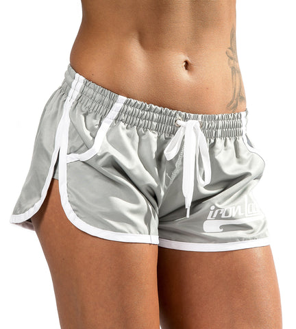 Iron Tanks Womens Shorts Iron Lady Vanity Shorts - Gunmetal Grey